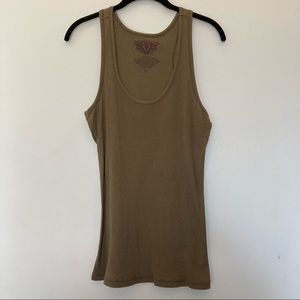 Green tank top size 2x women's ribbed sleeveless